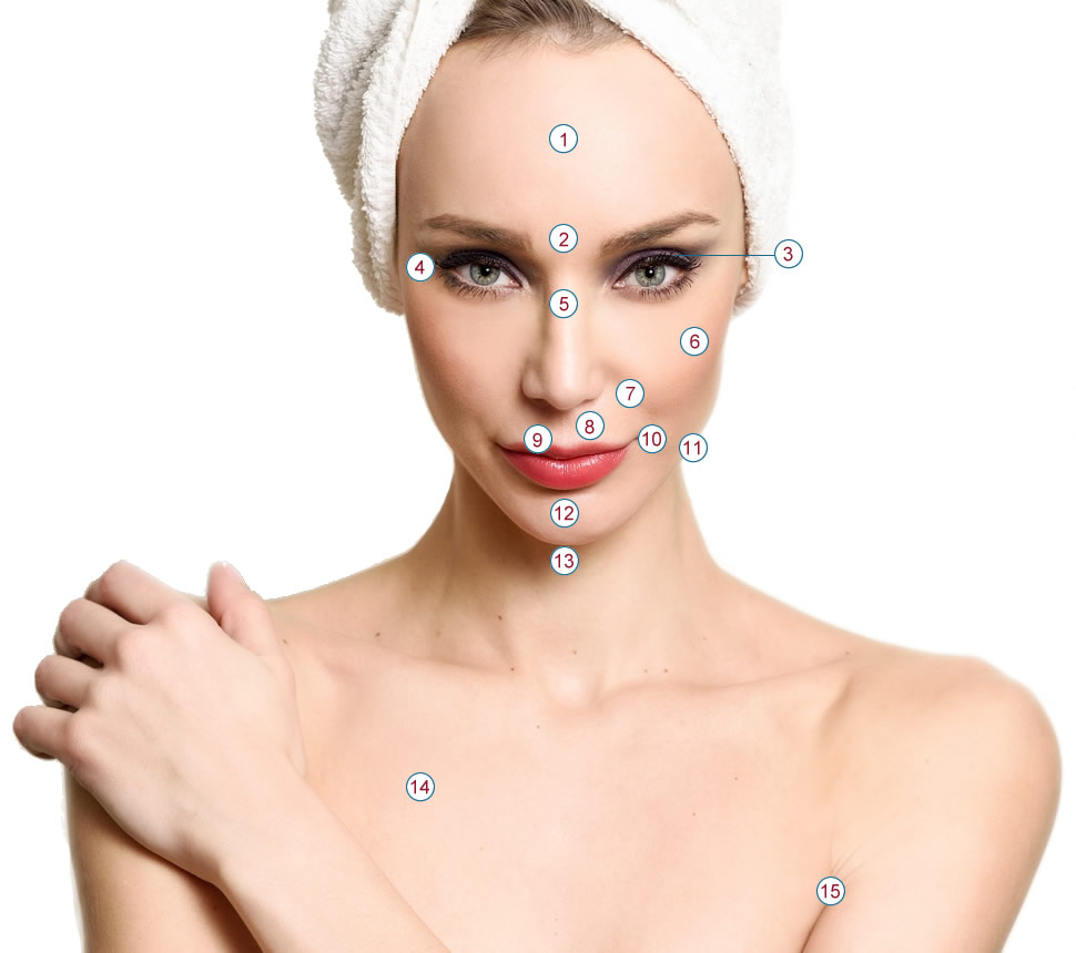 Image of a woman's face for cosmetic conditions page